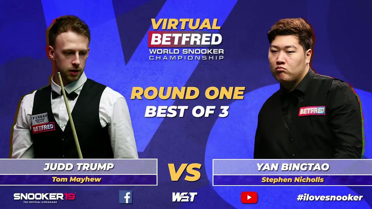 2020虚拟斯诺克世界锦标赛:贾德·特鲁姆普vs颜丙涛