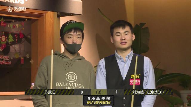 全场首位挑战成功的民间高手 刘海峰抓住苏尼日失误2-0领走千元奖金 | 不服单挑