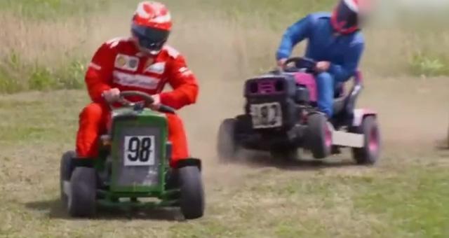 莱科宁开拖拉机竟发生剐蹭 快滚回去开F1