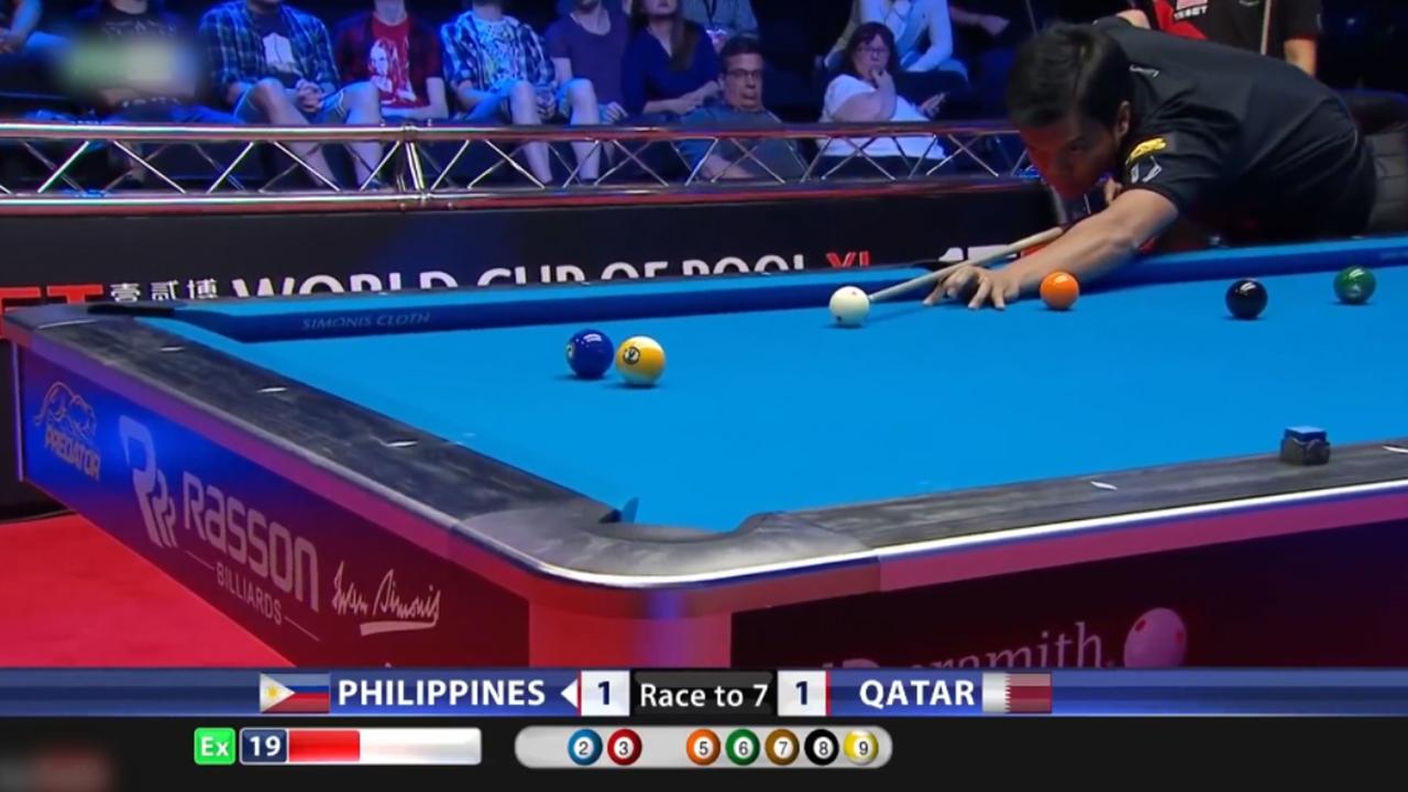 一杆开伦解决问题 比亚多不愧菲律宾的当代球王