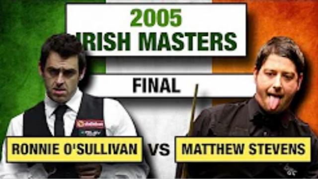 #奥沙利文排名赛33冠记录#(十八):2005爱尔兰大师赛10-8马修·史蒂文斯