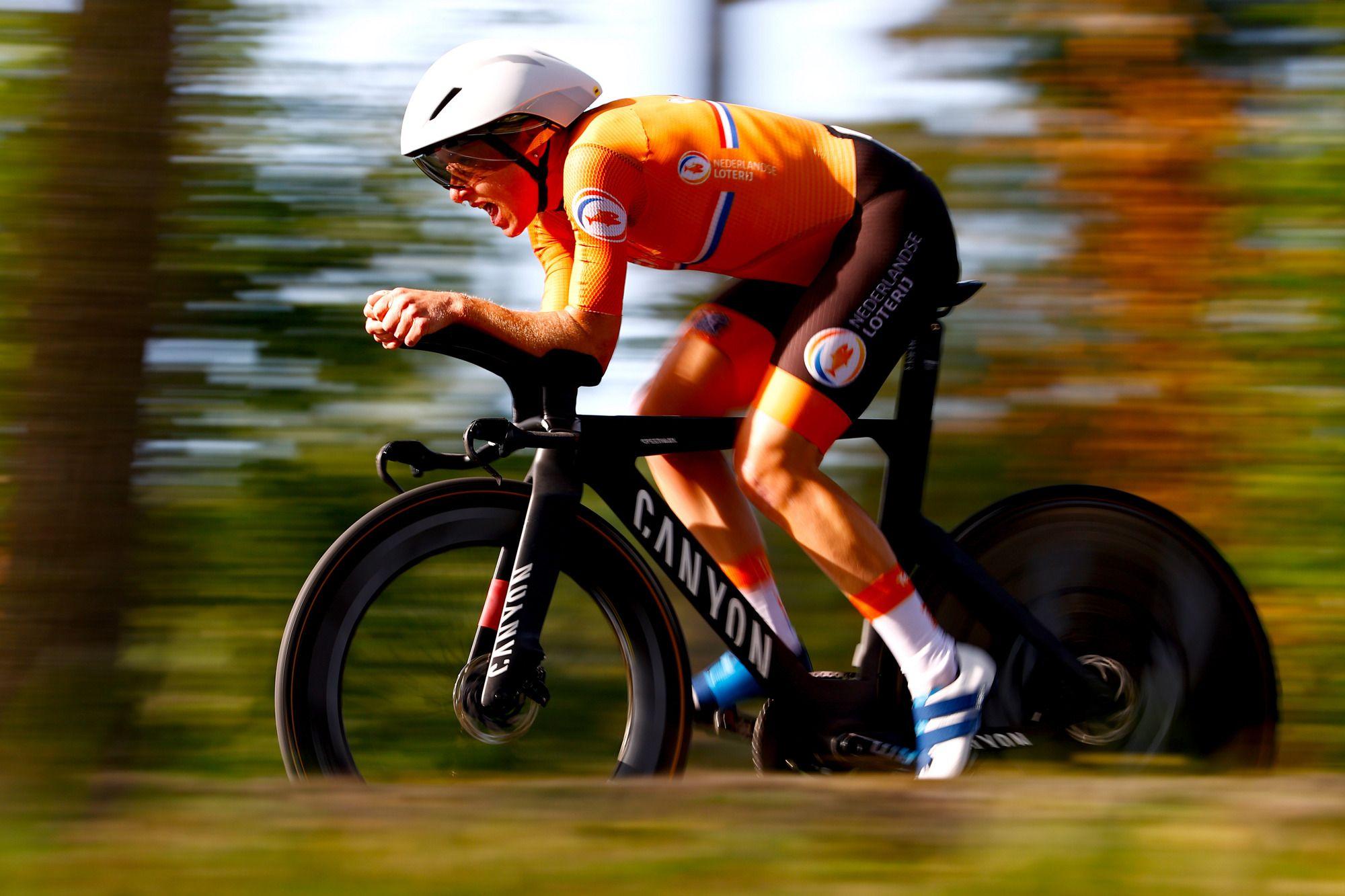 荷兰车手艾伦-范戴克世锦赛女子计时赛夺金-领骑网