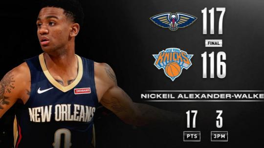 【NBA季前赛】鹈鹕险胜尼克斯 猛龙轻取篮网