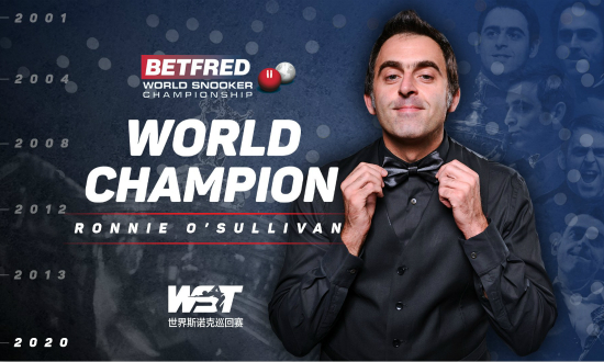 奥沙利文加冕生涯世锦赛第6冠 排名赛37冠独享历史第一人