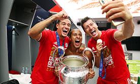 拜仁慕尼黑获得19/20赛季欧冠冠军