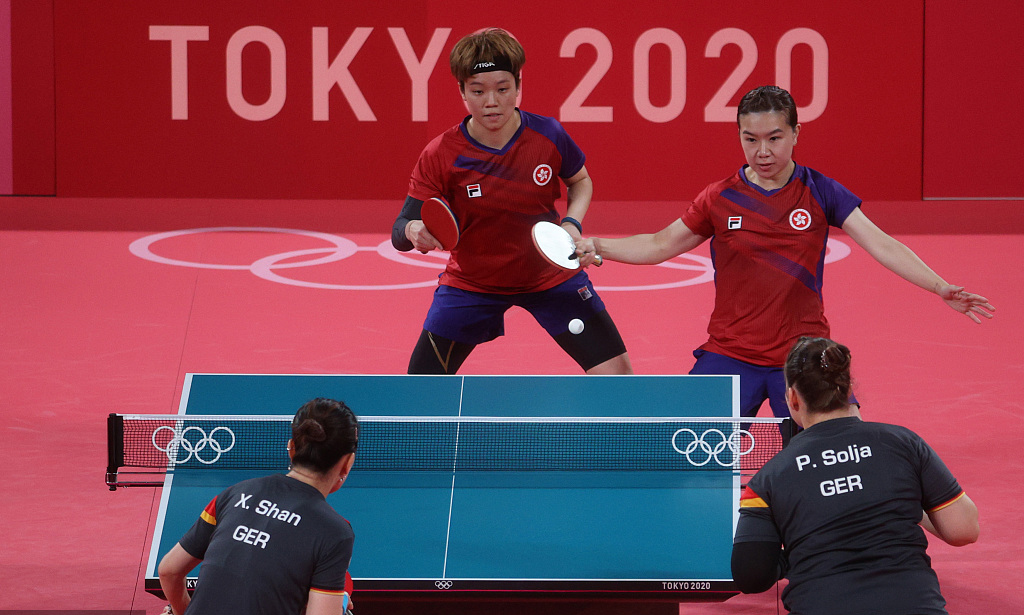 【乒乓球】中国香港女团首度摘得铜牌